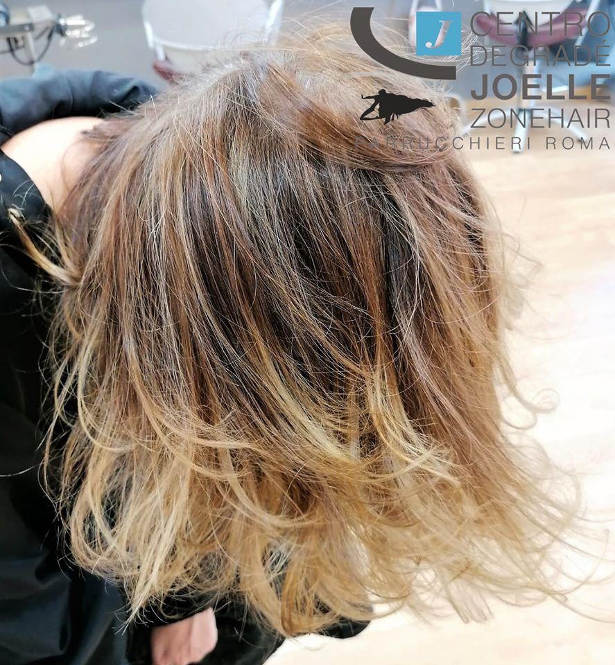 Degradé castani caldi scalati parrucchiere roma nuovo salario